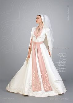 Georgian National Costume Wedding Dress - Explore the World with Travel Nerd Nici, one Country at a Time. http://TravelNerdNici.com
