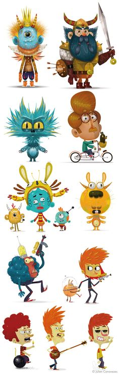 character design on Behance