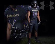 Northwestern University Wildcats Football Gothic uniforms October 2014 by Under  Armour 1b7d6e18b
