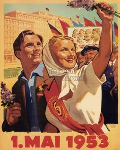 Propaganda Communism DDR East Germany 1 May 1953 Large Poster Art Print BB2384A | eBay