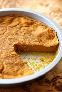 The Healthiest Crustless Pumpkin Pie   Strength and Sunshine @RebeccaGF666 Everything you love about pumpkin pie, but gluten-free, vegan, allergy-free, and none of the work! This is the Healthiest Crustless Pumpkin Pie around! So healthy, this dessert recipe may just be your next breakfast too!