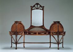 Louis Majorelle (1859-1926) - Dresser. Carved & Inlaid Mahogany with Bronze Hardware. Circa 1900.