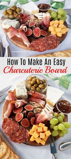 How to make an Easy Charcuterie Board (Cheese Board) within minutes, which you can customize with ingredients you prefer or suits the occasion #ChartecurieBoard #ChartecuriePlate #EasyCheeseBoard #ValentinesDayRecipes
