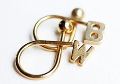 Gold Initial Keychain  EFHP by diamentdesigns on Etsy,