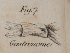 """Cravate à la Gastronome H. le Blanc, Esq.: """"L'Art de mettre sa cravate"""" (1827)"""