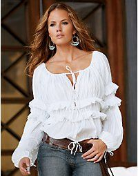 Gypsy style  Love an Amazing White Blouse w Jeans!