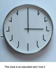 Uhr Clock Numbers, Clock Ideas, Cool Clocks, Unusual Clocks, Funny Videos, Funny Gifs, Funny Jokes, What Time Is, Somerset