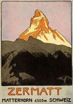 Zermatt, Switzerland Travel Poster