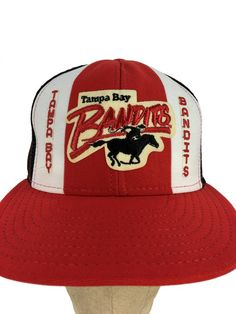 64203090b16 Vintage 80s Tampa Bay Bandits Trucker Hat    Snap-Back    Mesh    Dad Hat     Patch Hat    Baseball Cap    USFL    1980s    Florida    Retro