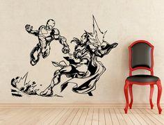 Iron Man adesivi Tony Stark parete vinile adesivi casa affreschi degli interni arte decorazione (161z)