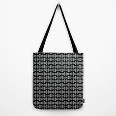 Tote Bag Unique black white pattern #society6 #handbags #accessories