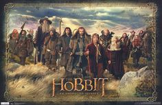 The Hobbit Bilbo Baggins and the Dwarves 22x34 Poster