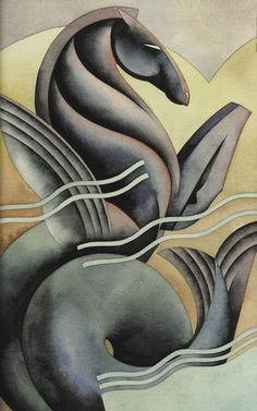 'Seahorse' by Nick Gaetano / Illustration / Posters | Art deco design