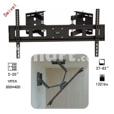 """Corner 37-63"""" 132lbs Full Motion Swivel Tilting LCD LED Monitor Wall TV Mount Bracket,$62.89"""