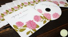 unique CD or DVD wedding favors or invitations