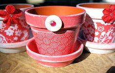Ideas for Decorating Flower Pots....mother's day gift