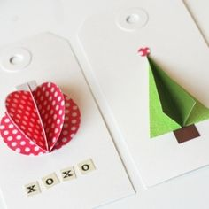 DIY Gift Tags ~ Craftgawker (& has  other 'gawker categories) is addictive like Pinterest and you can pin ideas from their site, too!  http://craftgawker.com/popular/favorites/7-days/