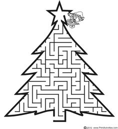 Printable christmas crafts for kids - christmas printables Christmas Maze, Christmas Crafts For Kids, Xmas Crafts, Christmas Colors, Christmas Themes, Christmas Holidays, Google Christmas, Printable Christmas Games, Christmas Worksheets