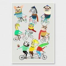 Bikers als Premium Poster von Ashley Percival