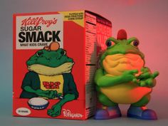 TITLE: Drug 'Em Killfrog – The Sugar Smack Bullfrog ARTIST: Ron English SIZE: 8 inches H PRICE: $60 USD + shipping