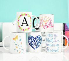 DIY mugs with Cricut Joy machine. Mug Press, Diy Mugs, Paper Flower Tutorial, American Crafts, Creative Crafts, Paper Flowers, Cricut, Paper Crafts, Joy