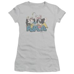 """Checkout our #LicensedGear products FREE SHIPPING + 10% OFF Coupon Code """"Official"""" Popeye / The Gang - Short Sleeve Junior Sheer - Popeye / The Gang - Short Sleeve Junior Sheer - Price: $34.99. Buy now at https://officiallylicensedgear.com/popeye-the-gang-short-sleeve-junior-sheer"""