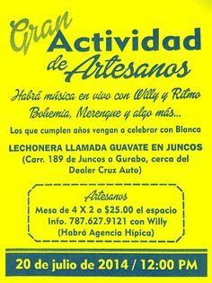 Gran Actividad de Artesanos @ Guavate en Juncos #sondeaquipr #artesaniaspr #guavateenjuncos #juncos #festivalespr