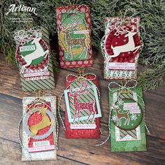 CCollinsDashingAlong copy Stampin Up Christmas 2018, Happy Christmas Wishes, 3d Christmas, Christmas Gift Tags, Xmas Cards, Holiday Cards, Winter Cards, Christmas Ideas, Deer Tags