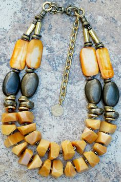 Necklace | Honey Gold | Amber | Bronze | ~ love the mix of these colors