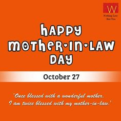 Happy Mother-in-Law Day to all the wonderful #women out there!Which words would you choose to describe your #mother-in-law?