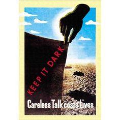 Buyenlarge Careless Talk Costs Lives Vintage Advertisement Size: