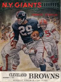 Old NY Giants vs. Cleveland  Browns program.  nyg  NFL New York 0b2cc70c0
