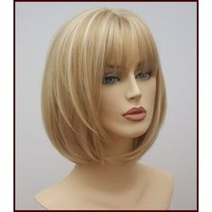 Mid Length Heat Resistant Blonde Bob Angel