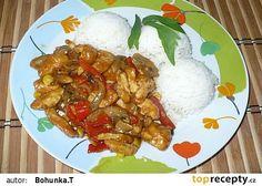 Kuřecí čína recept - TopRecepty.cz Grains, Curry, Food And Drink, Rice, Eggs, Meat, Cooking, Breakfast, Ethnic Recipes