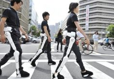Cyberdyne have created HAL  (Hybrid Assistive Limb), a exoskeleton suit that can be controlled by the mind for people working in heavy radiation areas.