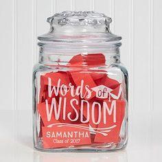 Graduation Words of Wisdom Jar