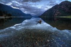 Buttle Lake, Strathcona Provincial Park, Vancouver Island, British Columbia, Canada.