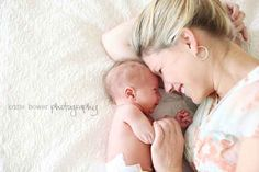 Or when your journey together has only just begun. | 31 Impossibly Sweet Mother-Daughter Photo Ideas
