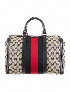 5af0b69d8bc1eb Gucci Vintage Web Boston Bag #Guccihandbags Vintage Gucci, Vintage Fashion, Gucci  Handbags,