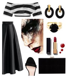 """Furia."" by schenonek ❤ liked on Polyvore featuring Paper London, Chicwish, STELLA McCARTNEY, Charlotte Olympia, Wouters & Hendrix, Yves Saint Laurent, Topshop and Chanel"