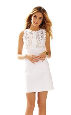 Breakers Lace Top Shift Dress | 92398 | Lilly Pulitzer