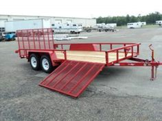 tandem 16' utility trailer heavy duty utility macon ga atlanta. side gate side by side atv trailer