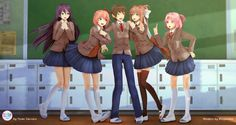 Doki Doki Anime, Very Beautiful Images, Video Game Characters, Fictional Characters, Literature Club, Mystic Messenger, Dear God, Best Memories, Character Inspiration