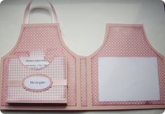 Project and Free Template: Apron Recipe Card and Holder – Stamping Recipe Card Holders, Recipe Cards, Handmade Greetings, Greeting Cards Handmade, Bridal Shower Cards, Shaped Cards, Idee Diy, Easel Cards, Mini Scrapbook Albums