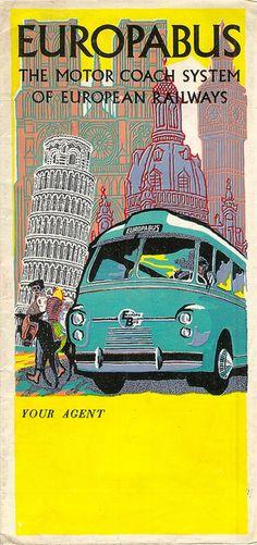 ideefixedujour:    Europabus brochure, 1954 by mikeyashworth on Flickr.