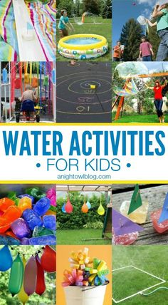 25 Kids Water Activities for Kids - keep your kids busy and cool this Summer! #activity #kids #water