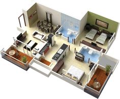 Free 3d drawing house plans