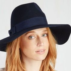 ModCloth Accessories - Film noir and again felt hat in Midnight Navy