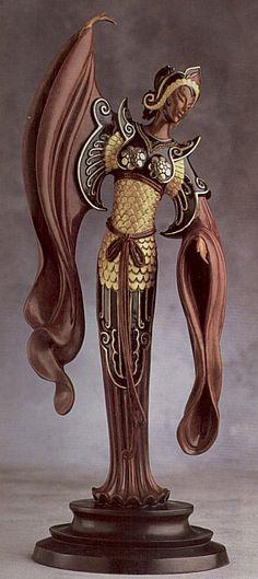 """Chinese Legend"" (Bronze)   by   Erte"