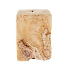 Natural Teak Wood End Table_1